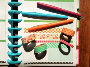 Plan With Me on a Budget, Video Vlog for March 20, 2017, Themes for Less: Washi Week, Washi Only Spread