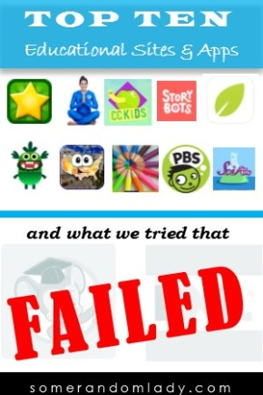 Top Ten Educational Media Sites for Kindergarten – and what we tried that FAILED