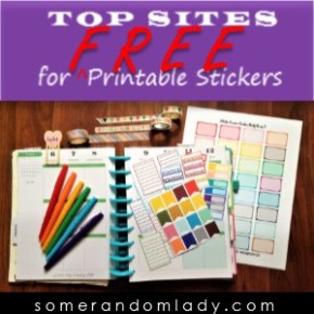 Planning on a Budget Free Printable Sticker Round Up – Top Sites for All Your Planner Printables